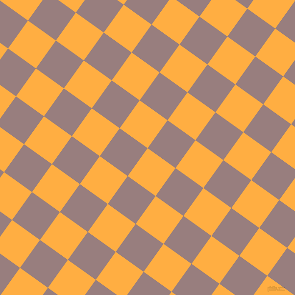 54/144 degree angle diagonal checkered chequered squares checker pattern checkers background, 70 pixel square size, , Yellow Orange and Opium checkers chequered checkered squares seamless tileable