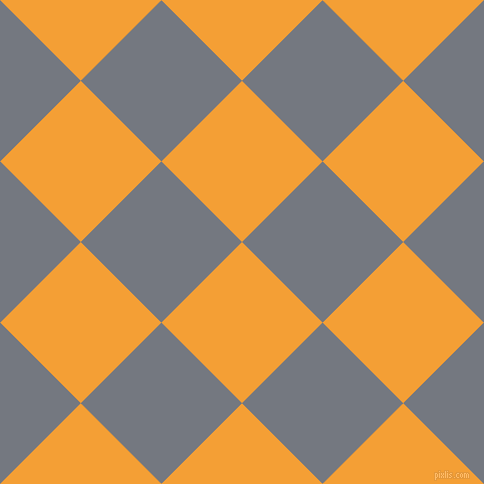 45/135 degree angle diagonal checkered chequered squares checker pattern checkers background, 114 pixel square size, , Yellow Sea and Storm Grey checkers chequered checkered squares seamless tileable