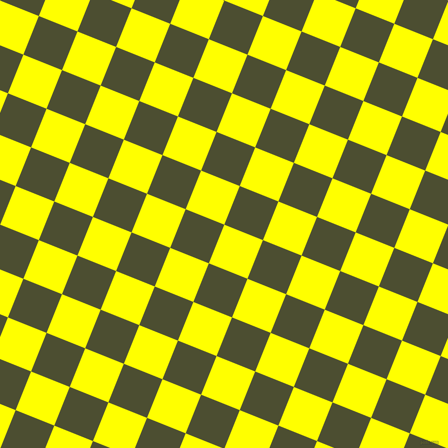 68/158 degree angle diagonal checkered chequered squares checker pattern checkers background, 81 pixel square size, , Yellow and Waiouru checkers chequered checkered squares seamless tileable