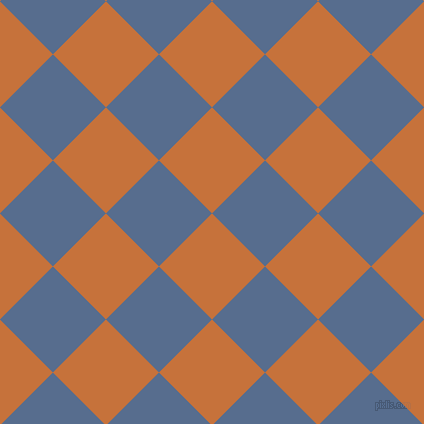 45/135 degree angle diagonal checkered chequered squares checker pattern checkers background, 75 pixel square size, , Zest and Kashmir Blue checkers chequered checkered squares seamless tileable