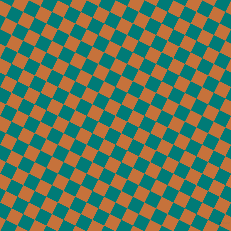 63/153 degree angle diagonal checkered chequered squares checker pattern checkers background, 44 pixel square size, Zest and Surfie Green checkers chequered checkered squares seamless tileable