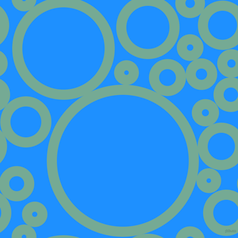 bubbles, circles, sponge, big, medium, small, 33 pixel line width, Acapulco and Dodger Blue circles bubbles sponge soap seamless tileable