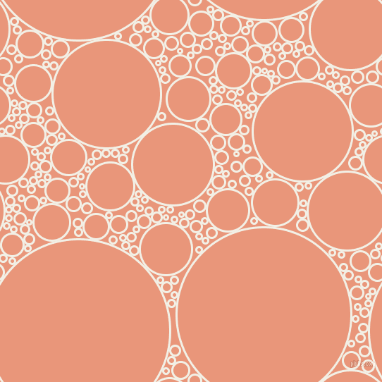 bubbles, circles, sponge, big, medium, small, 3 pixel line width, Alabaster and Dark Salmon circles bubbles sponge soap seamless tileable