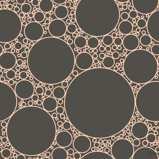 bubbles, circles, sponge, big, medium, small, 3 pixel line width, Apricot and Dune circles bubbles sponge soap seamless tileable