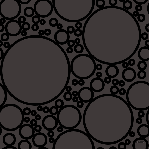 bubbles, circles, sponge, big, medium, small, 9 pixel line width, Black and Eclipse circles bubbles sponge soap seamless tileable