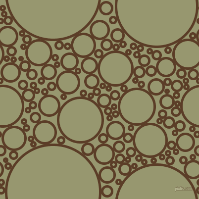 bubbles, circles, sponge, big, medium, small, 5 pixel line width, Bracken and Malachite Green circles bubbles sponge soap seamless tileable