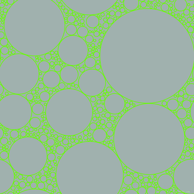 bubbles, circles, sponge, big, medium, small, 2 pixel line width, Bright Green and Conch circles bubbles sponge soap seamless tileable