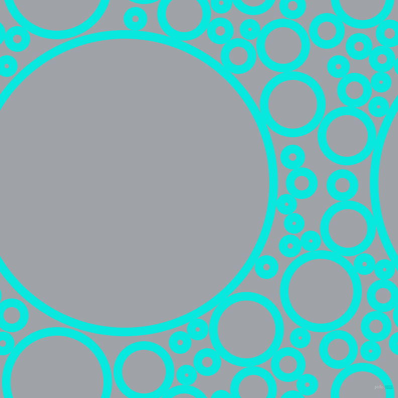 bubbles, circles, sponge, big, medium, small, 17 pixel line width, Bright Turquoise and Grey Chateau circles bubbles sponge soap seamless tileable