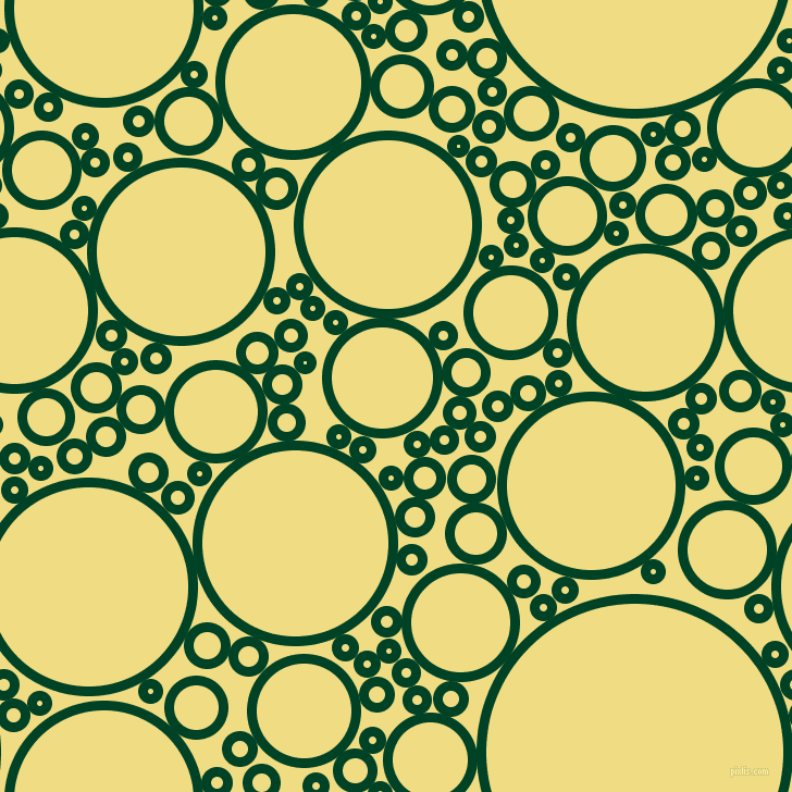 bubbles, circles, sponge, big, medium, small, 9 pixel line width, British Racing Green and Buff circles bubbles sponge soap seamless tileable