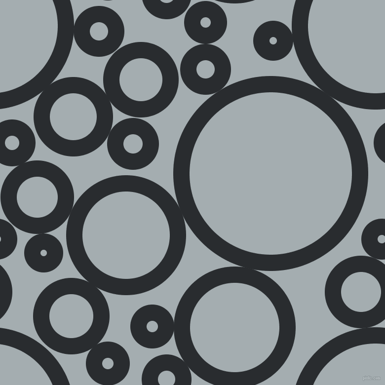 bubbles, circles, sponge, big, medium, small, 33 pixel line width, Bunker and Gull Grey circles bubbles sponge soap seamless tileable