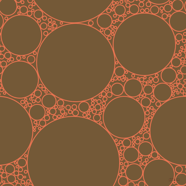 bubbles, circles, sponge, big, medium, small, 3 pixel line width, Burnt Sienna and Shingle Fawn circles bubbles sponge soap seamless tileable