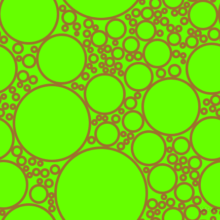 bubbles, circles, sponge, big, medium, small, 5 pixel line width, Buttered Rum and Bright Green circles bubbles sponge soap seamless tileable