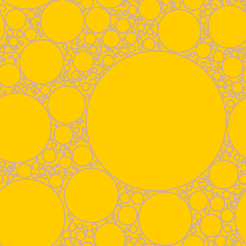 bubbles, circles, sponge, big, medium, small, 5 pixel line width, Calico and Tangerine Yellow circles bubbles sponge soap seamless tileable