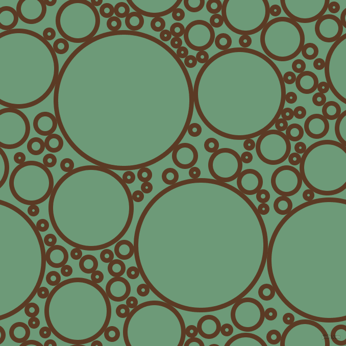 bubbles, circles, sponge, big, medium, small, 9 pixel line width, Carnaby Tan and Oxley circles bubbles sponge soap seamless tileable