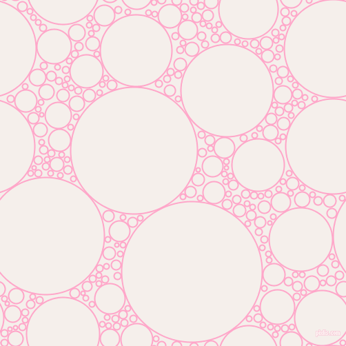 bubbles, circles, sponge, big, medium, small, 2 pixel line width, Carnation Pink and Hint Of Red circles bubbles sponge soap seamless tileable