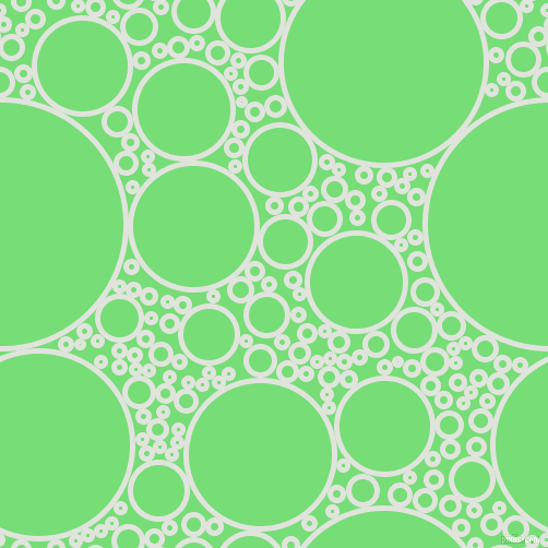 bubbles, circles, sponge, big, medium, small, 5 pixel line width, Catskill White and Pastel Green circles bubbles sponge soap seamless tileable