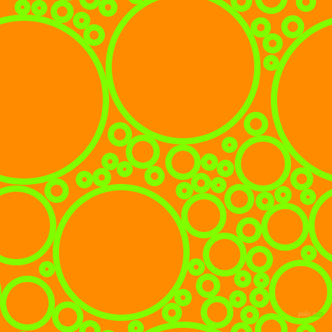 bubbles, circles, sponge, big, medium, small, 9 pixel line widthChartreuse and Dark Orange circles bubbles sponge soap seamless tileable