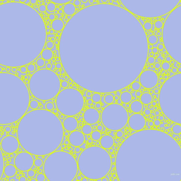 Pale Goldenrod And Pastel Green Circles Bubbles Sponge