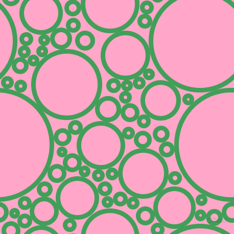bubbles, circles, sponge, big, medium, small, 9 pixel line width, Chateau Green and Carnation Pink circles bubbles sponge soap seamless tileable