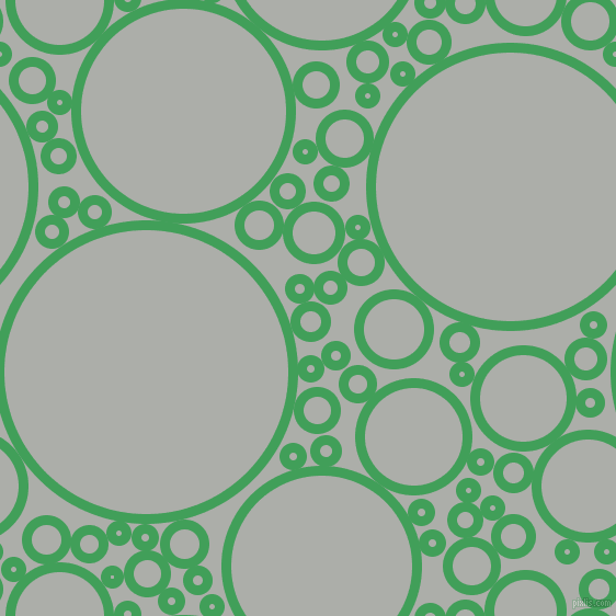 bubbles, circles, sponge, big, medium, small, 9 pixel line width, Chateau Green and Silver Chalice circles bubbles sponge soap seamless tileable