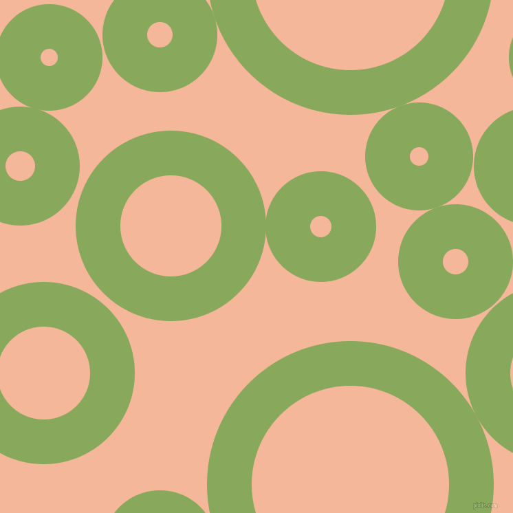 bubbles, circles, sponge, big, medium, small, 65 pixel line width, Chelsea Cucumber and Mandys Pink circles bubbles sponge soap seamless tileable