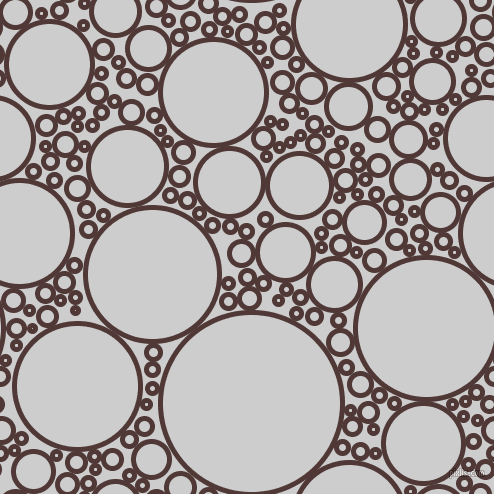 bubbles, circles, sponge, big, medium, small, 5 pixel line width, Cocoa Bean and Very Light Grey circles bubbles sponge soap seamless tileable
