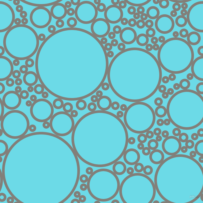 bubbles, circles, sponge, big, medium, small, 9 pixel line width, Concord and Turquoise Blue circles bubbles sponge soap seamless tileable
