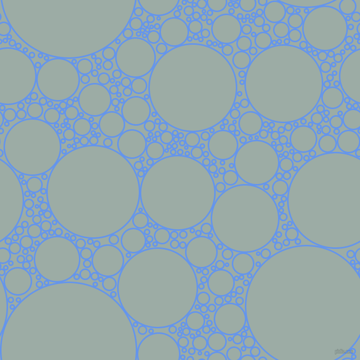 bubbles, circles, sponge, big, medium, small, 3 pixel line width, Cornflower Blue and Tower Grey circles bubbles sponge soap seamless tileable