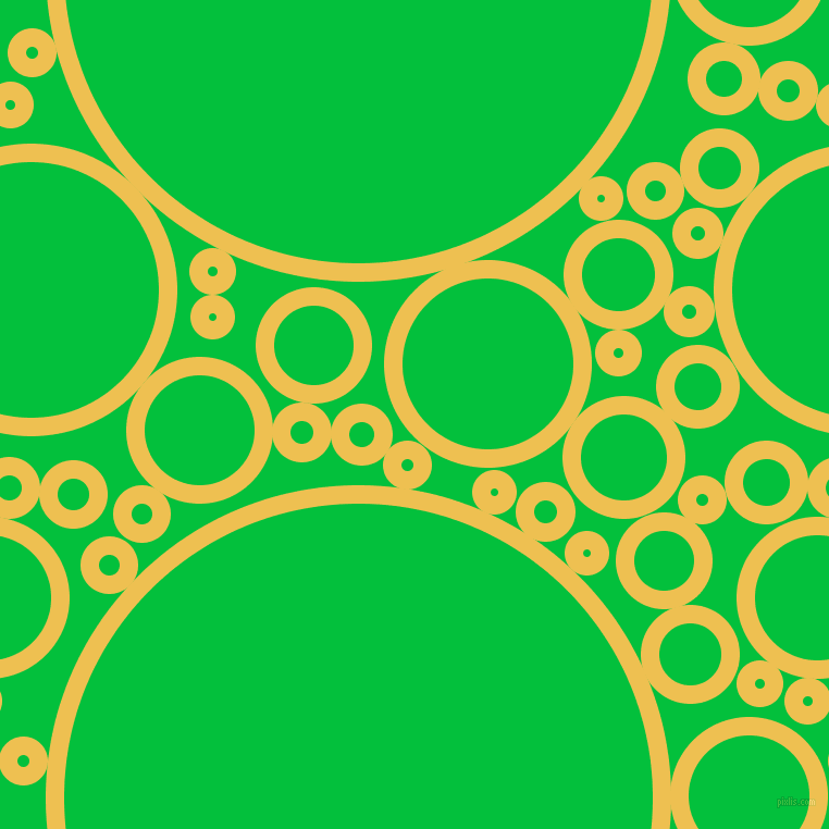 bubbles, circles, sponge, big, medium, small, 17 pixel line width, Cream Can and Dark Pastel Green circles bubbles sponge soap seamless tileable