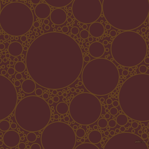 bubbles, circles, sponge, big, medium, small, 3 pixel line width, Dark Brown and Volcano circles bubbles sponge soap seamless tileable