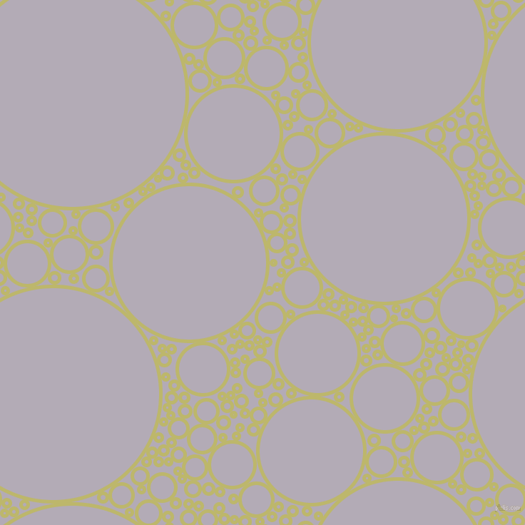 bubbles, circles, sponge, big, medium, small, 5 pixel line width, Dark Khaki and Chatelle circles bubbles sponge soap seamless tileable