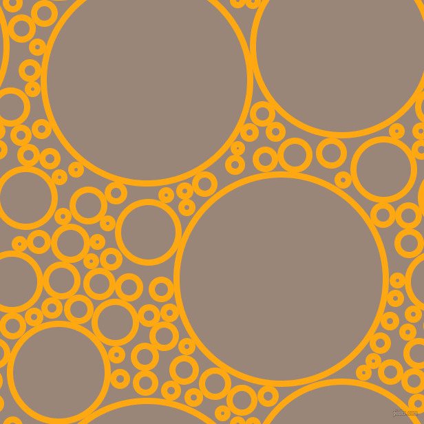 bubbles, circles, sponge, big, medium, small, 9 pixel line width, Dark Tangerine and Almond Frost circles bubbles sponge soap seamless tileable