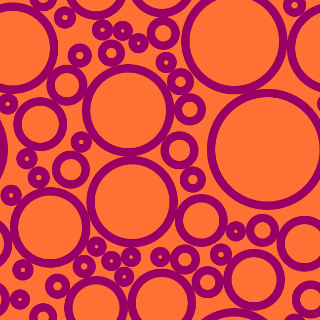 bubbles, circles, sponge, big, medium, small, 17 pixel line width, Eggplant and Burnt Orange circles bubbles sponge soap seamless tileable