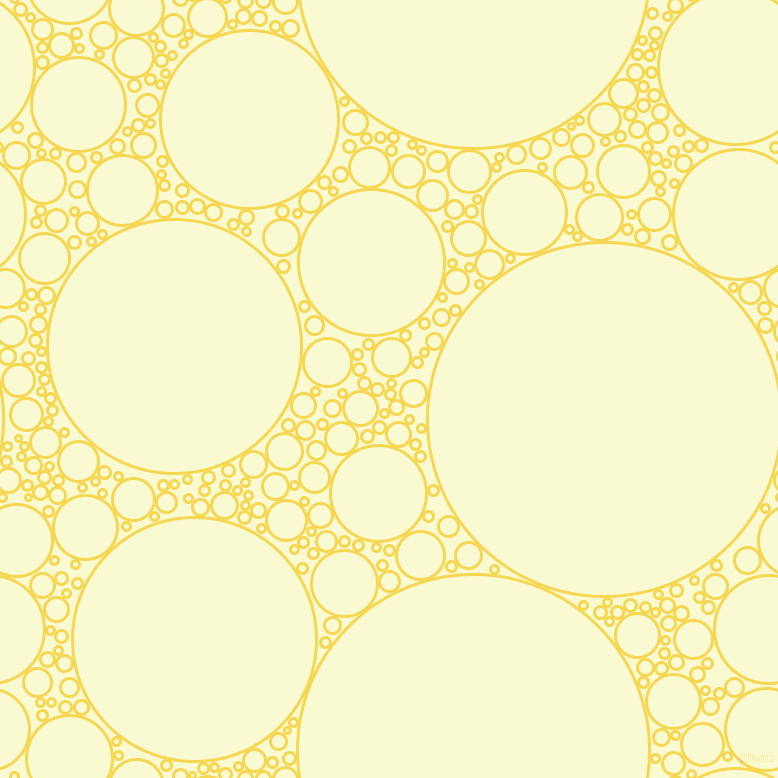 bubbles, circles, sponge, big, medium, small, 3 pixel line width, Energy Yellow and Light Goldenrod Yellow circles bubbles sponge soap seamless tileable