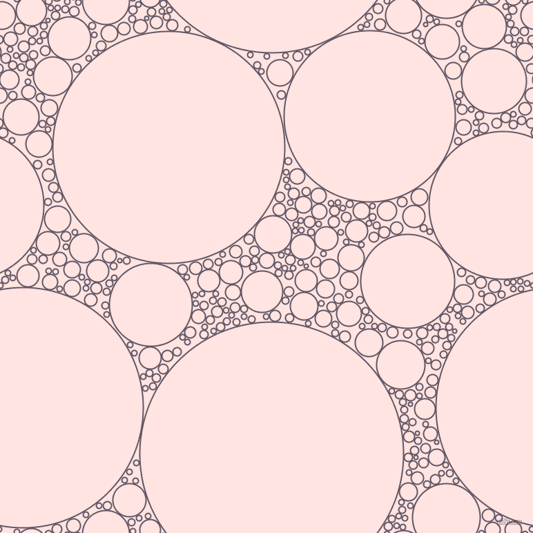 bubbles, circles, sponge, big, medium, small, 2 pixel line width, Fedora and Misty Rose circles bubbles sponge soap seamless tileable