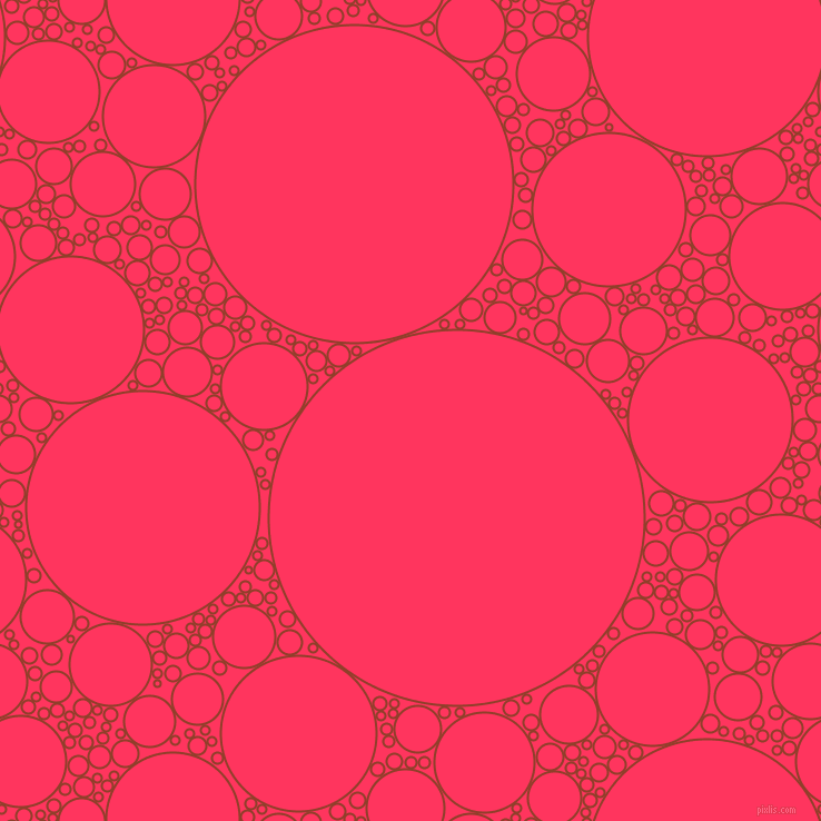 bubbles, circles, sponge, big, medium, small, 2 pixel line width, Fire and Radical Red circles bubbles sponge soap seamless tileable