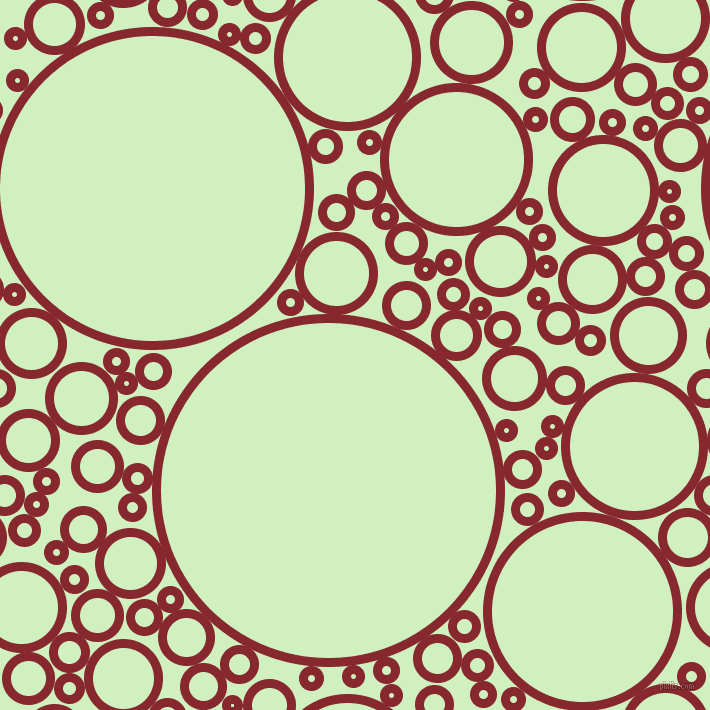 bubbles, circles, sponge, big, medium, small, 9 pixel line width, Flame Red and Tea Green circles bubbles sponge soap seamless tileable