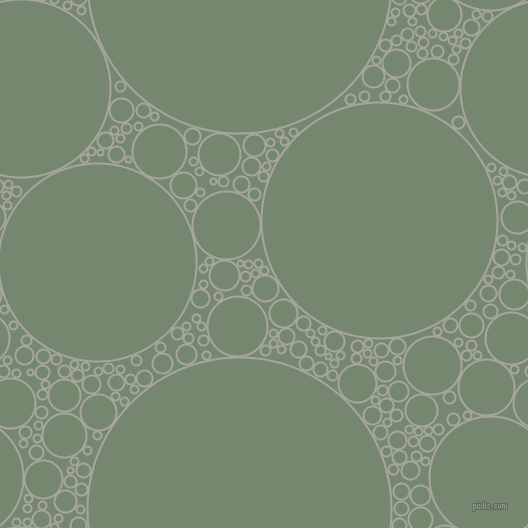 bubbles, circles, sponge, big, medium, small, 2 pixel line width, Foggy Grey and Xanadu circles bubbles sponge soap seamless tileable
