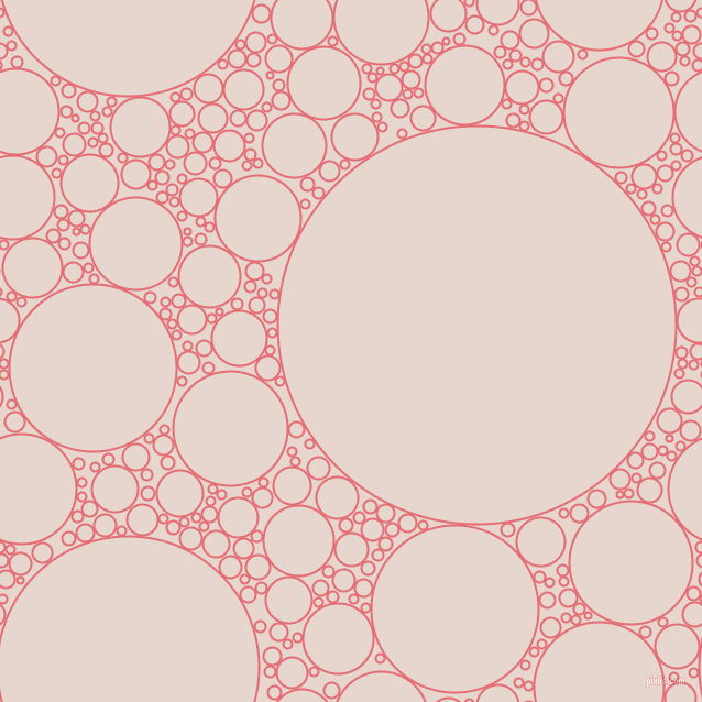 bubbles, circles, sponge, big, medium, small, 2 pixel line width, Froly and Dawn Pink circles bubbles sponge soap seamless tileable