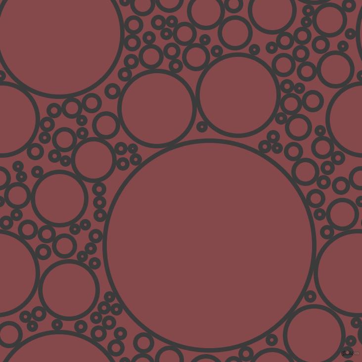 Fuscous Grey and Solid Pink circles bubbles sponge soap