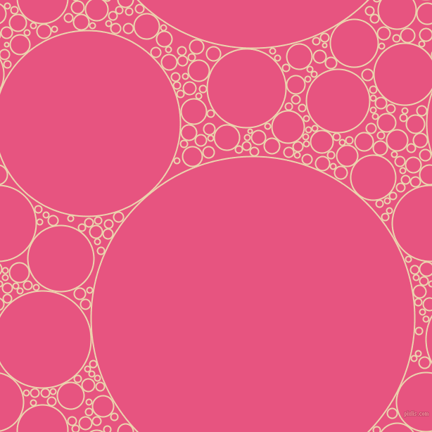 bubbles, circles, sponge, big, medium, small, 2 pixel line width, Givry and Dark Pink circles bubbles sponge soap seamless tileable