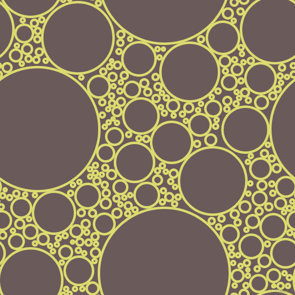 bubbles, circles, sponge, big, medium, small, 5 pixel line width, Goldenrod and Zambezi circles bubbles sponge soap seamless tileable