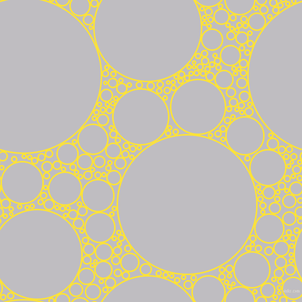 bubbles, circles, sponge, big, medium, small, 3 pixel line width, Gorse and French Grey circles bubbles sponge soap seamless tileable