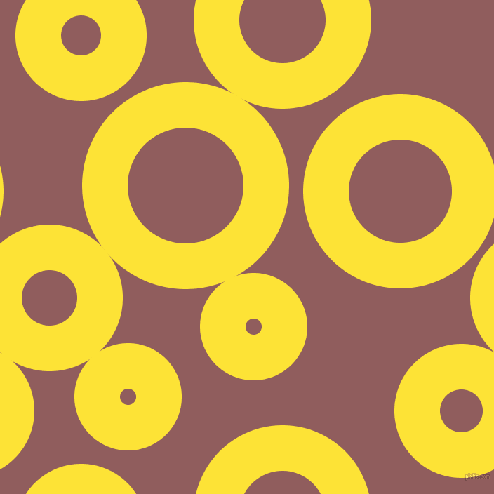 bubbles, circles, sponge, big, medium, small, 65 pixel line width, Gorse and Rose Taupe circles bubbles sponge soap seamless tileable