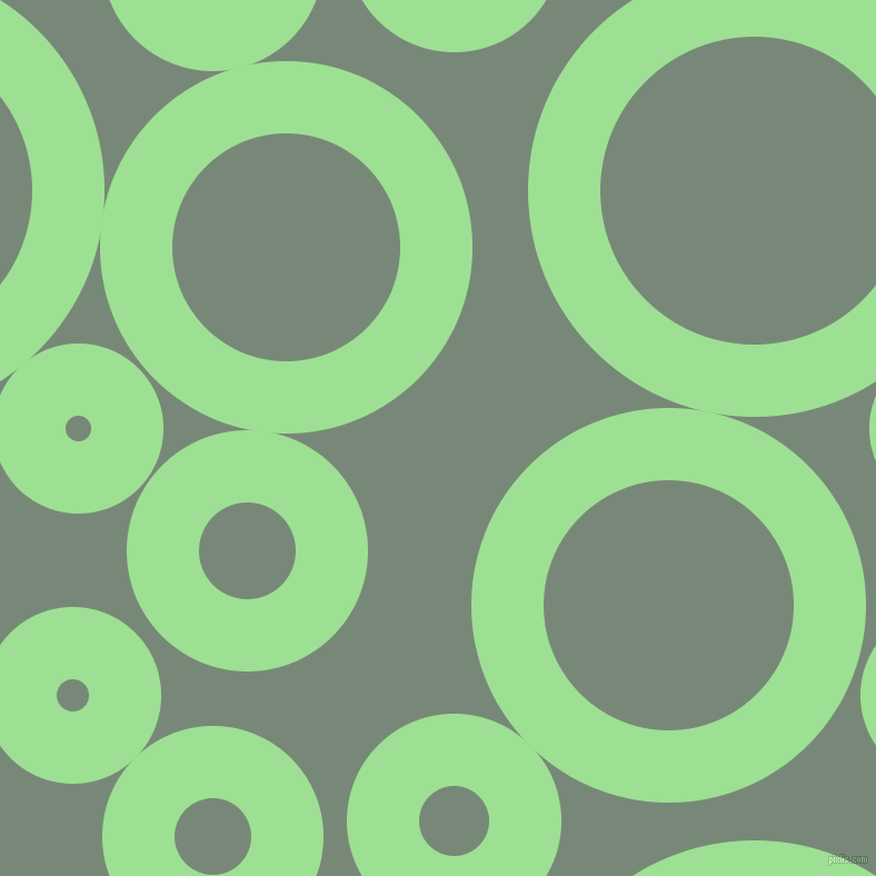 bubbles, circles, sponge, big, medium, small, 65 pixel line width, Granny Smith Apple and Davy