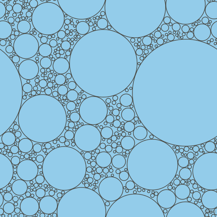 bubbles, circles, sponge, big, medium, small, 2 pixel line width, Gravel and Cornflower circles bubbles sponge soap seamless tileable
