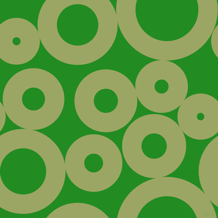 bubbles, circles, sponge, big, medium, small, 65 pixel line width, Green Smoke and Forest Green circles bubbles sponge soap seamless tileable