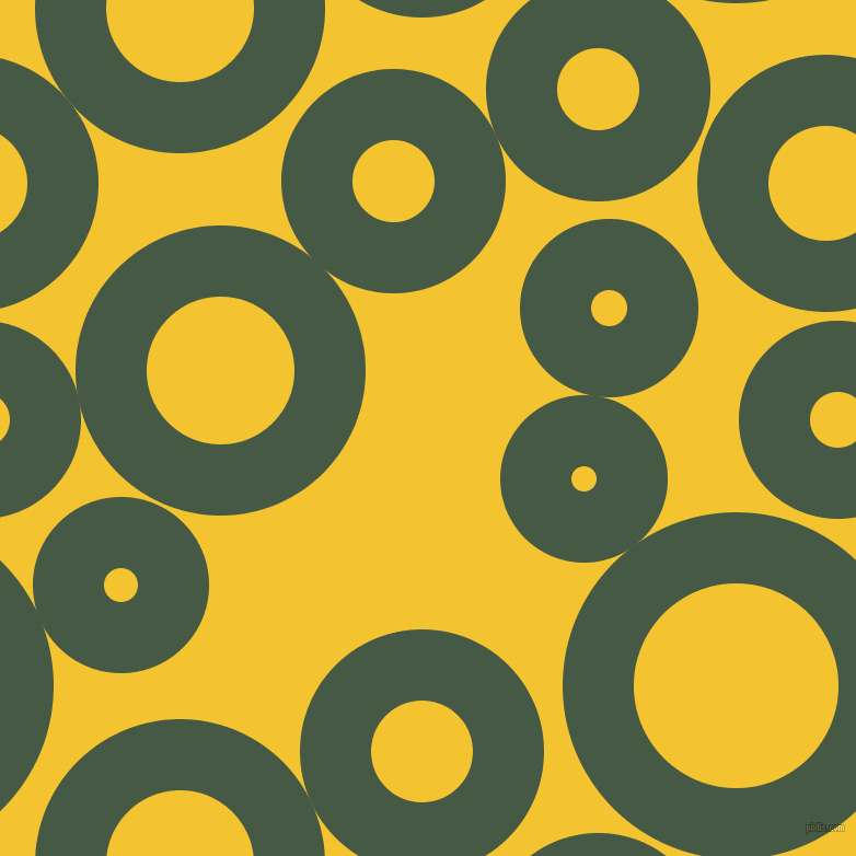 bubbles, circles, sponge, big, medium, small, 65 pixel line width, Grey-Asparagus and Saffron circles bubbles sponge soap seamless tileable