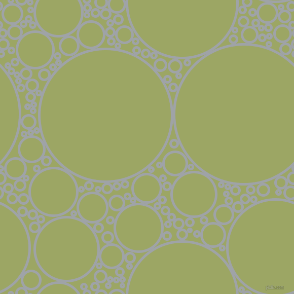 bubbles, circles, sponge, big, medium, small, 5 pixel line width, Grey Chateau and Green Smoke circles bubbles sponge soap seamless tileable