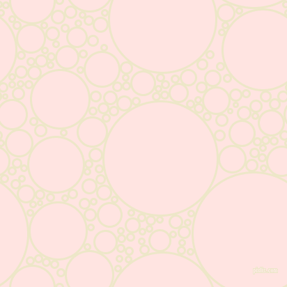 bubbles, circles, sponge, big, medium, small, 3 pixel line width, Half And Half and Misty Rose circles bubbles sponge soap seamless tileable